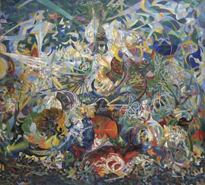 Abstraction-Joseph Stella-Battle of Lights-1913-14