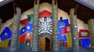 Fernand Léger, mosaïque de la façade