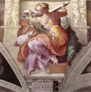 La Sybille Lybique, Michel-Ange, Chapelle Sixtine. (1511)