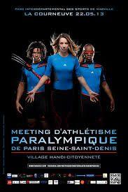 Allocution d'Azzédine TAIBI lors du Meeting International d'athlétisme paralympique de Paris / Seine-Saint-Denis au Parc des Sports de Marville
