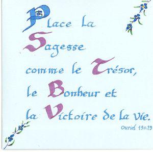 carte calligraphiée