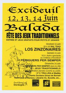 Excideuil 24    12 13 14 juin    Fête des « Jeux traditionnels ».