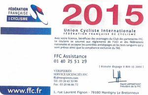 Licences 2015 !