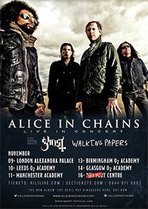 ALICE IN CHAINS : LIVE A LONDRES (09/11/2013)
