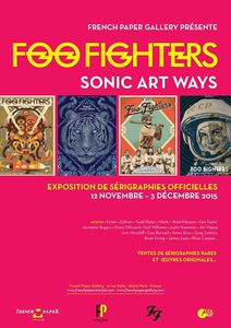Foo Fighters : Exposition &quot&#x3B;Sonic Art Ways&quot&#x3B; à Paris