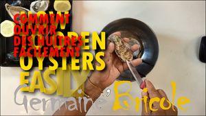 Pas facile d'ouvrir une huître