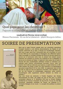 Quel pape pour les Eglises ? / présentation livre
