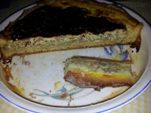 tarte endives caramélisées bacon