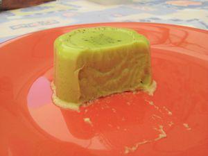 Flan expressa à la pâte de pistache