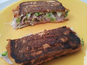 Croques courgette jambon
