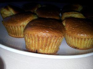 Muffins amande pépites de chocolat