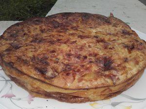 Clafoutis de poireaux au camembert