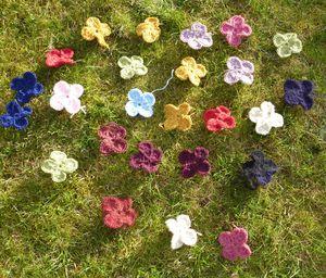 Les drôles de fleurs - Wool eater CAL bis