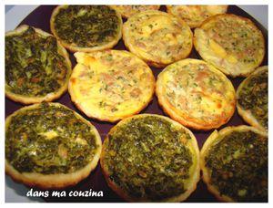 Tartelettes thon/ épinard