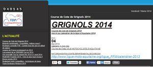 Course de cote de Grignols 2014