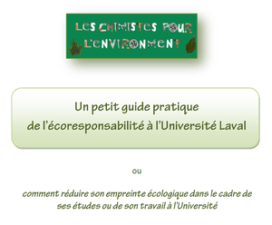 Chimistes pour l'environnement lance son Guide de l'écoresponsabilité