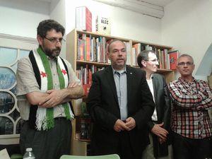 A la librairie La Cour des Grands : rencontre avec Ziad Majed