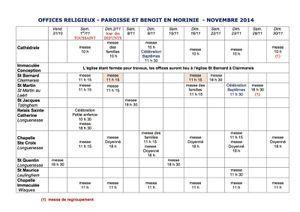 Horaires des messes Paroisse Saint-Benoit en Morinie
