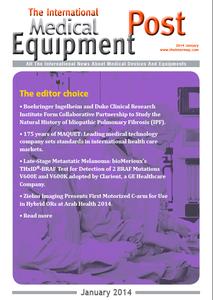 The International Medical Equipment Post January 2014 Editor's Choice