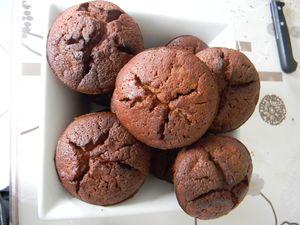Muffin's poire chocolat