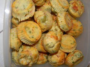 Mini muffin's lardon olives