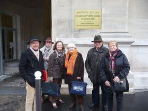 La délégation eurélienne à la sortie du ministère.