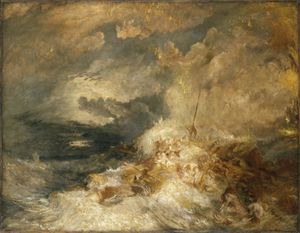 William Turner, a Disaster at Sea, 1835.