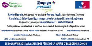 Lancement de la campagne des départementales du canton d'Ermont Eaubonne le 30/01/2015