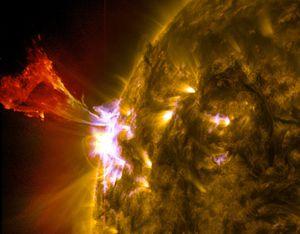 Eruptions solaires importantes