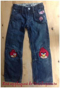 Appliques genoux Angry Bird