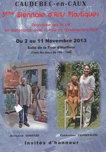 Pascal Levaillant mosaïste d'art, sculpteur à la 3ème biennale d'Arts Plastiques de Caudebec-en-Caux du  2 au 11 novembre 2013