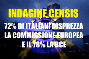 Il 72 % degli italiani disprezza la UE