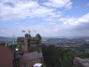 Haut-Barr Castle near Saverne in Alsace