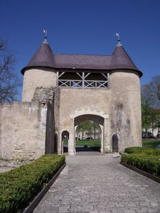 The castle of Vic-sur-Seille in Moselle