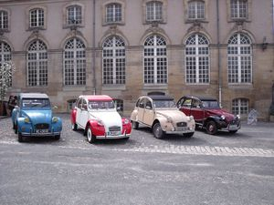 Exhibition of Citroën 2CV cars in Lunéville