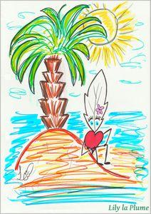 Une île par Lily la Plume
