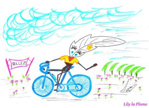 Je bicycle par Lily la Plume