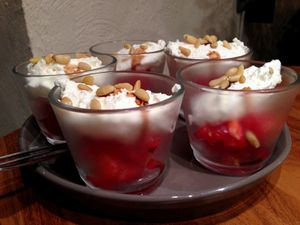 Verrine tomate fêta en chantilly