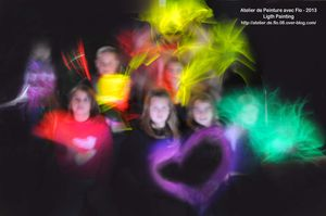 Atelier Light Painting à l'école avec Flo!