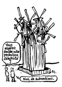 Éoliennes : du vent et surtout plein de fric (par Fabrice Nicolino - Charlie Hebdo 23 septembre 2015)