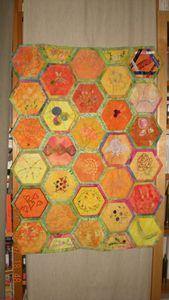 patch hexagones terminé