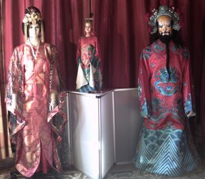 costumes traditionnels et marionnette de HUNAN