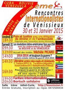 Le PRCF aux RENCONTRES INTERNATIONALISTES de VÉNISSIEUX.