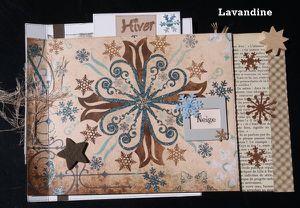 Mini album Hiver destructuré par Lavandine