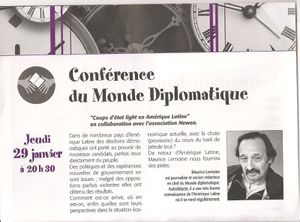 Conférence avec Maurice Lemoine