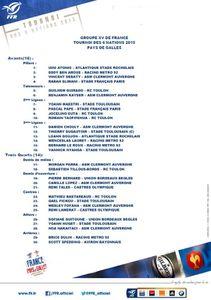 Les 30 pour FRANCE GALLES