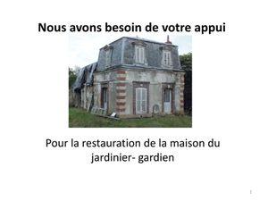 URGENT: appel pour la restauration de la maison du jardinier-gardien