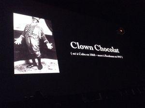 Le clown Chocolat au Marché de Lerme
