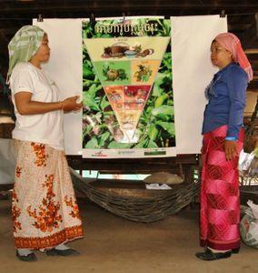 Animation villageoise de sensibilisation à la nutrition dans le village de Popis