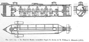 Le sous-marin CSS HUNLEY